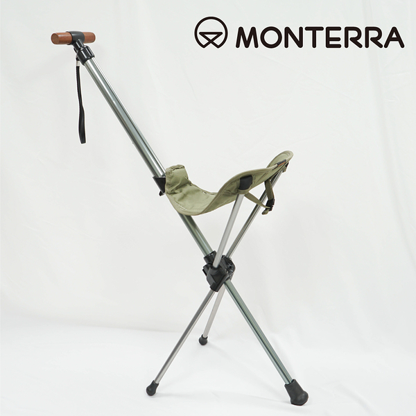 Monterra 輕量鞍型折疊騎馬椅Saddle I-3 橄欖綠 / 城市綠洲 (摺疊、折疊、露營桌椅、韓國品牌)