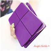 手拿包 長夾.手機包 韓版簡約 復古格子 三層大容量女皮夾(都有現貨) AngelNaNa SMA0128
