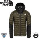 【The North Face 男 Summit Perex 連帽羽絨外套《綠》】3SQJ/羽絨外套/保暖外套