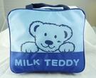 【震撼精品百貨】MILK TEDDY _泰迪熊 ~ 方形後背包『藍&黃』(共二款)