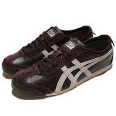 Asics 復古慢跑鞋 Mexico 66 Vin 咖啡 灰 皮革鞋面 經典款 男鞋【PUMP306】 D2J4L2912