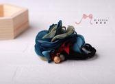 蜜諾菈Minerva‧現貨‧多層次藍綠花朵髮束‧編號00519
