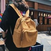 後背包 森系復古百搭簡約書包女大學生雙肩包旅行帆布小背包-Milano米蘭