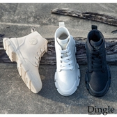 Dingle丁果ღ 韓版透氣高筒帆布短靴馬丁靴(三色35-40)