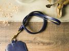 alto 頸掛皮繩 Leather Neck Strap - 海軍藍