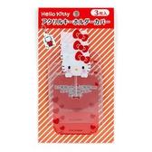 〔小禮堂〕Hello Kitty 造型透明吊飾保護套組《3入.紅白》收納套.演唱會粉絲收納系列 4901610-13903