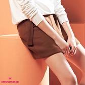 【SHOWCASE】OL條紋絨厚暖木環腰帶簡約窄裙(咖)