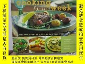 二手書博民逛書店cooking罕見for the week (烹飪一週)小12開