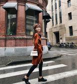 SHINE KOREA  新款時尚毛呢收腰連帽大衣