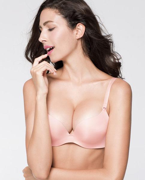 聚攏罩杯V型薄模杯調整型胸罩-ami004