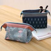 創意簡約旅行化妝包便攜隨身化妝品收納盒韓國洗漱包大容量手提袋 【四月特賣】