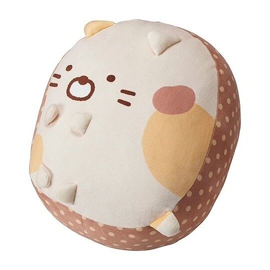 小禮堂 角落生物 貓咪 造型絨毛抱枕 絨毛靠枕 玩偶 娃娃 (黃 坐姿) 4992272-70211