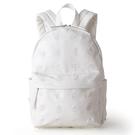 【震撼精品百貨】Hello Kitty 凱蒂貓~HELLO KITTY純白邂逅系列PU皮革刺繡鑲飾後背包