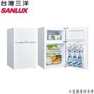 【SANLUX台灣三洋】102公升一級能效雙門定頻電冰箱 SR-C102B1