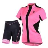 自行車衣套裝-含短袖腳踏車服+單車褲-超級透氣悍將女運動服69u71【時尚巴黎】