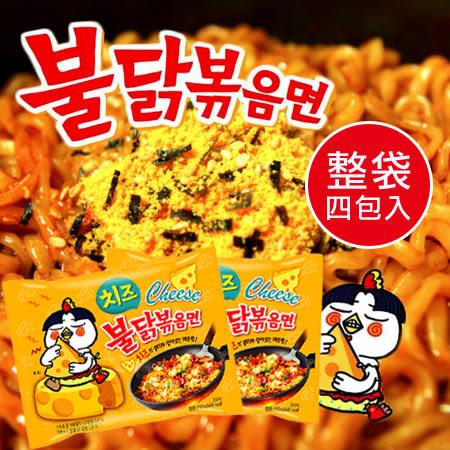 韓國 起司辣雞肉風味麵 (四包入) 560g 起司辣雞麵 起司辣雞 辣雞麵 韓國泡麵