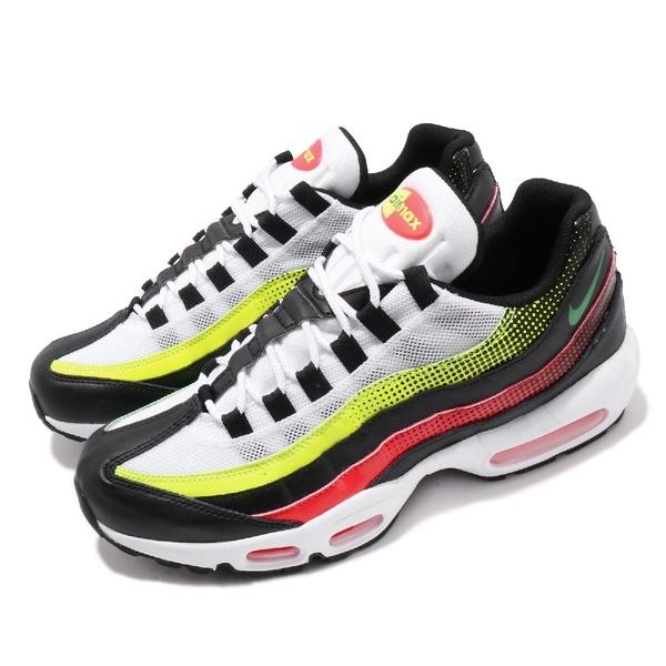 【五折特賣】Nike 休閒鞋 Air Max 95 SE 白 綠 皮革鞋面 氣墊 男鞋 復古慢跑鞋【ACS】 AJ2018-004