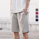Doppler 亞麻短褲 透氣鬆緊腰圍薄休閒短褲 海灘褲 現貨+預購 【TJGCZ8234】