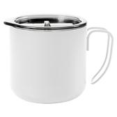 不鏽鋼咖啡杯 350ml /附蓋『白色』戶外 露營 登山 馬克杯 不銹鋼杯 隔熱杯 野餐杯 18-18075B