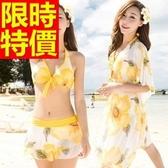 泳衣(四件式)-比基尼音樂祭衝浪溫泉必備可愛創意|泳裝-2色54g85【時尚巴黎】