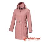 【wildland 荒野】女 長版防水防風時尚外套『珍珠粉』0A72909 戶外 休閒 運動 冬季 保暖 禦寒