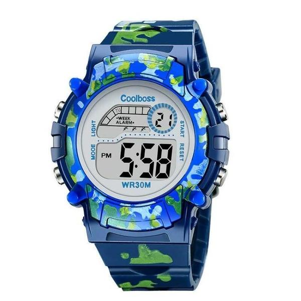 電子手錶防水男學生8-13歲髮光卡通玩具錶男童女童禮物錶 范思蓮恩