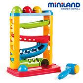 【西班牙 Miniland】雪橇軌道敲敲球遊戲組 ML000061