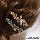 『坂井.亞希子』綻放的花鑲鑽造型髮夾...