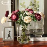 透明玻璃花瓶冬瓜玻璃瓶 手工精致玻璃瓶花器 家居飾品擺件小魚缸   小時光生活館