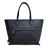 【南紡購物中心】LONGCHAMP MAILBOX系列牛皮前口袋手提包(大/黑)