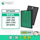 綠綠好日 HEPA抗菌濾芯 顆粒活性碳 適用 日立 HITACHI 空氣清淨機 UDP-J80 J90 J100 EP-GV65