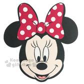 〔小禮堂〕迪士尼 米妮 多功能造型止滑墊《黑粉.大臉》手機擦拭.滑鼠墊兼用 8039312-00002