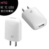 【售完為止】HTC RE TC U250 5V/1A旅行充電組◆贈TypeC-USB傳輸充電線