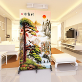 屏風 隔斷中式現代簡約折屏臥室折疊移動玄關客廳布藝時尚歐式屏風 2扇1組xw 【快速出貨】