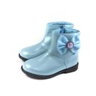 冰雪奇緣 Elsa Anna 短靴 拉鍊 水藍色 中童 童鞋 FNKP14686 no752