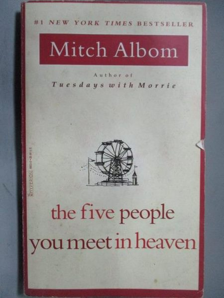 【書寶二手書T5/原文小說_ORH】the five people you meet_Mitch Albom