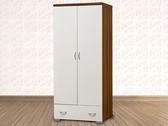 家事達 Mei Cha 114242DM 鏡面雙門單抽美背衣櫃