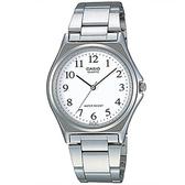 【CASIO】 輕巧典雅淑女不鏽鋼腕錶-數字白面(LTP-1130A-7B)