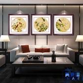 花鳥圖有框畫客廳裝飾畫臥室餐廳墻畫壁畫掛畫余稚圓形【英賽德3C數碼館】