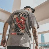 邪惡 2019新款夏季潮流韓版短袖T恤男寬鬆嘻哈情侶半袖衫潮牌男裝QM 莉卡嚴選