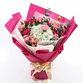 幸福婚禮小物「最美桃紅色康乃馨花束」鮮花/花束/母親節禮物/康乃馨