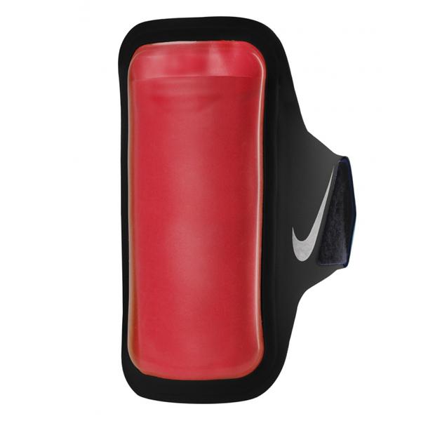 Nike Arm Band [NRN67026OS] 運動 慢跑 自行車 夜跑 反光 輕量 手機 臂包 5吋 黑 銀
