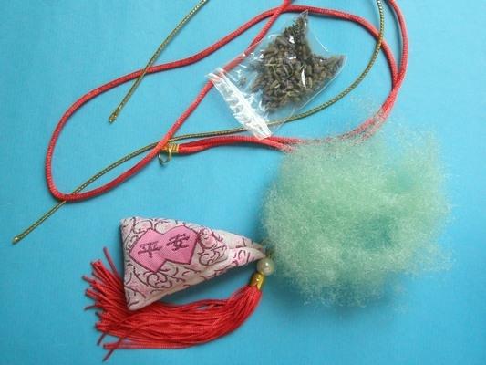 DIY平安粽子香包材料包 端午節平安香包/一份入{促35} 項鍊式 傳統粽子材料包 DIY平安香包