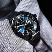CITIZEN 星辰表 / AW0024-15L / 光動能 日期星期 礦石強化玻璃 日本機芯 防水100米 真皮手錶 藍黑色 42mm