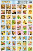 拿鐵熊郵票格子貼紙/三麗鷗貼紙 [CL8] - 大番薯批發網