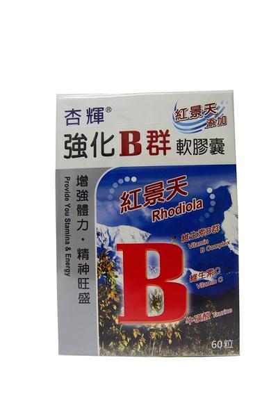 杏輝-杏利B群紅景天強化軟膠囊60S【美十樂藥妝保健】