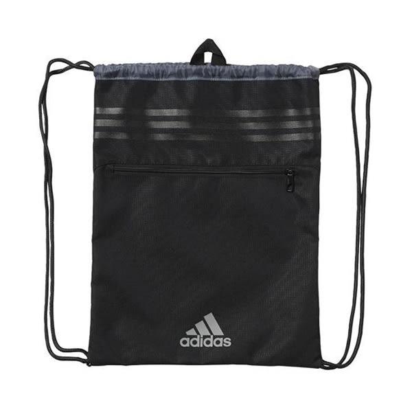 【折後$880】◆adidas 3S Performance Gym Bag 黑 銀 後背包 束口袋 束口背包 AK0005