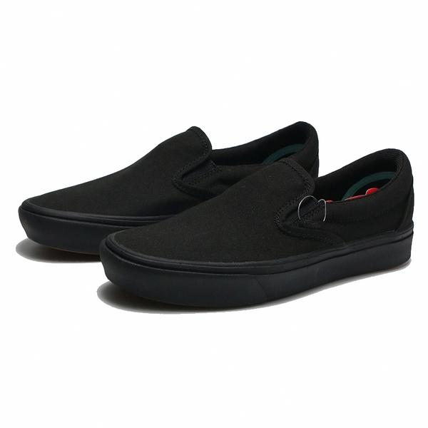 VANS 休閒鞋 懶人鞋 COMFYCUSH SLIP-ON 全黑 基本 帆布 男女 (布魯克林) VN0A3WMDVND