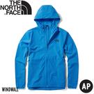 【The North Face 美國 男 軟殼防風外套《天空藍》】46KT/防潑水/防風外套