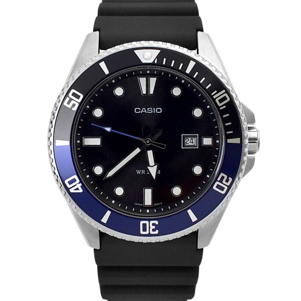 CASIO手錶 運動時尚黑藍水鬼膠錶NECH14